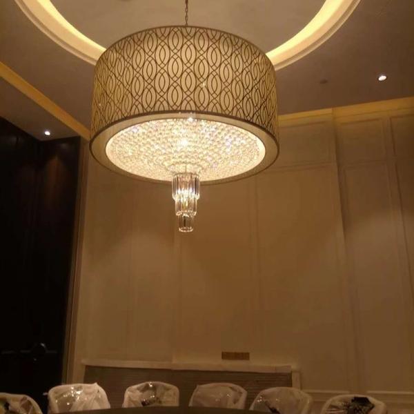 酒店水晶灯厂家简述酒店餐厅灯具如何营造气氛