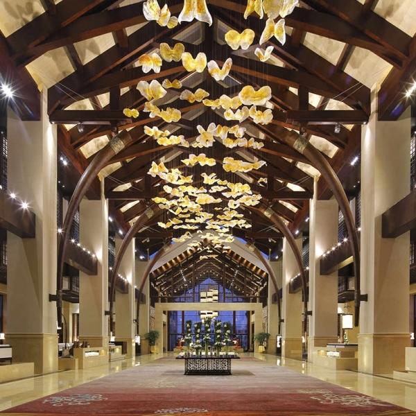上海酒店大堂水晶灯